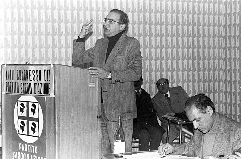 1976 - Oristano Discorso durante il Congresso del Partito Sardo di Azione