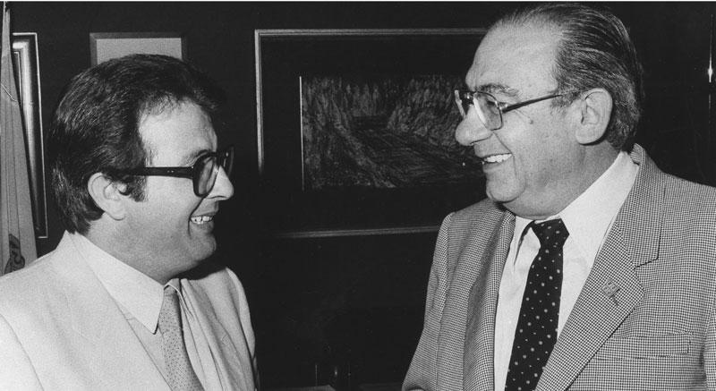 1980 - Cagliari Con il Presidente della Giunta Franco Rais
