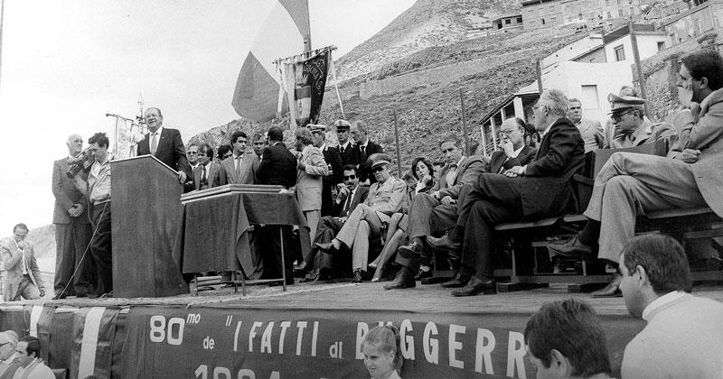 1984 - Buggerru, Commemorazione nell'Ottantesimo anno dall'eccidio di Buggerru