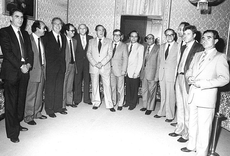 1984 - Cagliari I componenti della Giunta Melis