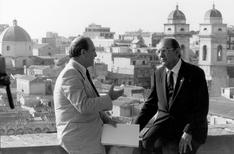 1984 - Cagliari, Intervista con Giorgio Bocca per il settimanale l'Espresso