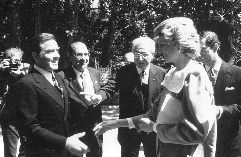 1984 - Porto Rotondo, Il Principe di Galles e sua moglie,  Lady Diana, in visita in Sardegna