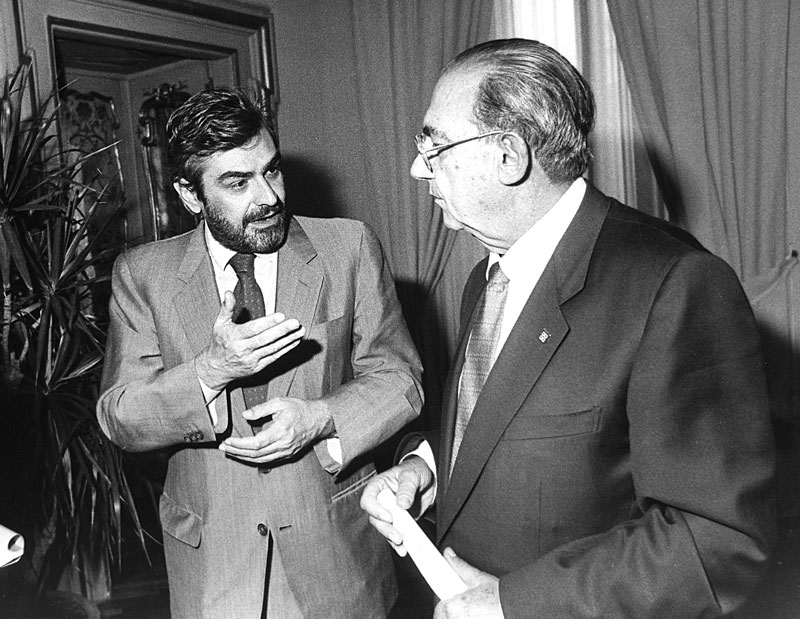 1984 - Incontro con il Ministro del Tesoro Giovanni Goria