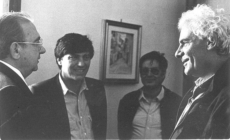 1985 - La Maddalena In compagnia dell'attore Gian Maria Volontè  in occasione del Premio Franco Solinas