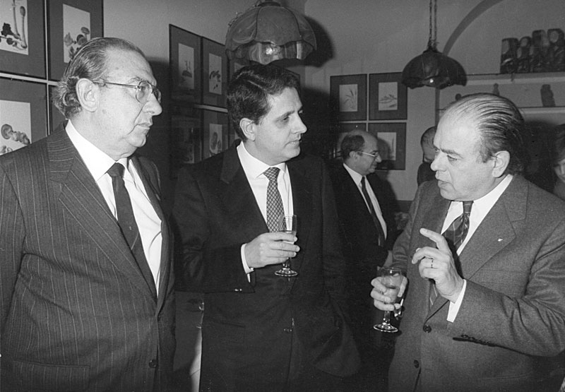 1986 - Barcellona Incontro con Jordi Pujol, Presidente della Generalitat Catalana