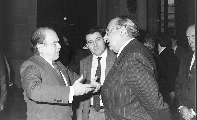 1986 - Barcellona, Incontro con Jordi Pujol, Presidente della Generalitat de Catalunya