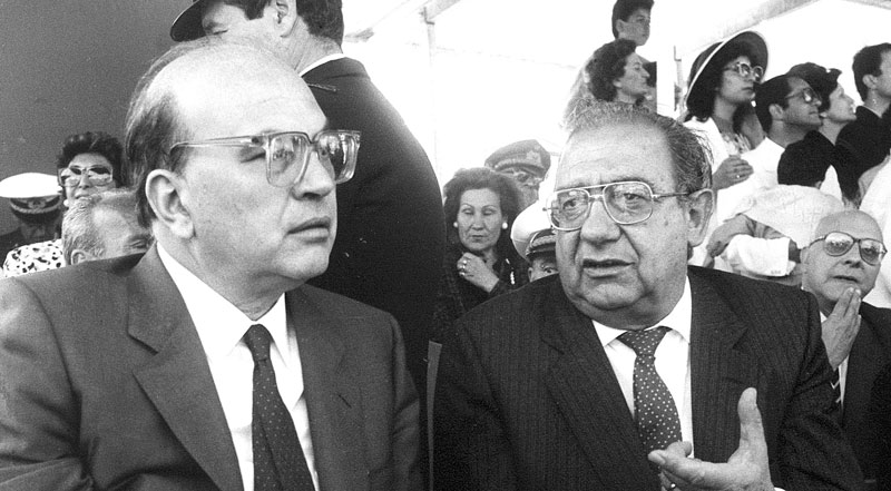 1986 - La Maddalena, Con il Presidente del Consiglio Bettino Craxi in visita in Sardegna