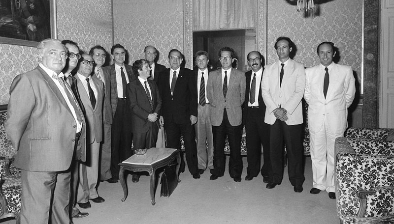 1987 - Cagliari La composizione della seconda Giunta Melis