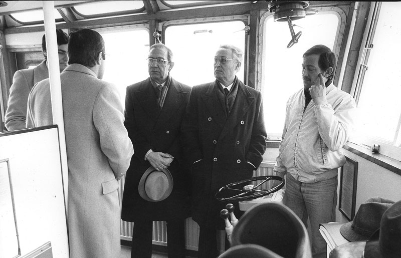1977 - La Commissione Trasporti del Senato  durante un viaggio a Venezia