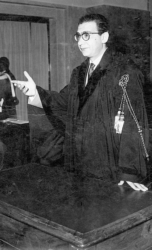 anni '50 - In Tribunale durante un'arringa
