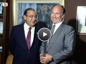 Incontro tra l'Aga Khan e il presidente Mario Melis